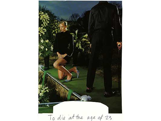 Claude Closky, 'To die at the age of 23', 2009, collage and ball-point pen on paper, 30 x 21 cm.