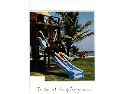 Claude Closky, 'To die at the playground', 2009, collage and ball-point pen on paper, 30 x 21 cm.
