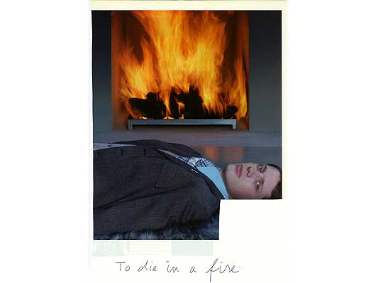 Claude Closky, 'To die in a fire', 2009, collage and ball-point pen on paper, 30 x 21 cm.