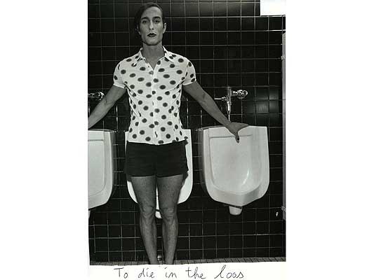 Claude Closky, 'To die in the loos', 2009, collage and ball-point pen on paper, 30 x 21 cm.