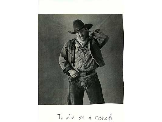 Claude Closky, 'To die on a ranch', 2009, collage and ball-point pen on paper, 30 x 21 cm.