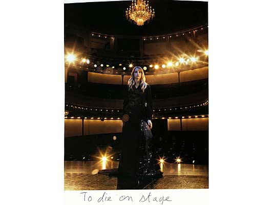 Claude Closky, 'To die on stage', 2009, collage and ball-point pen on paper, 30 x 21 cm.