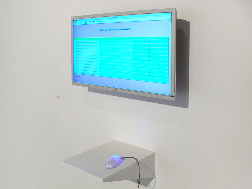 Claude Closky, 'Top 10', 2003, interactive web site, Php (http://www.sittes.net/top10).