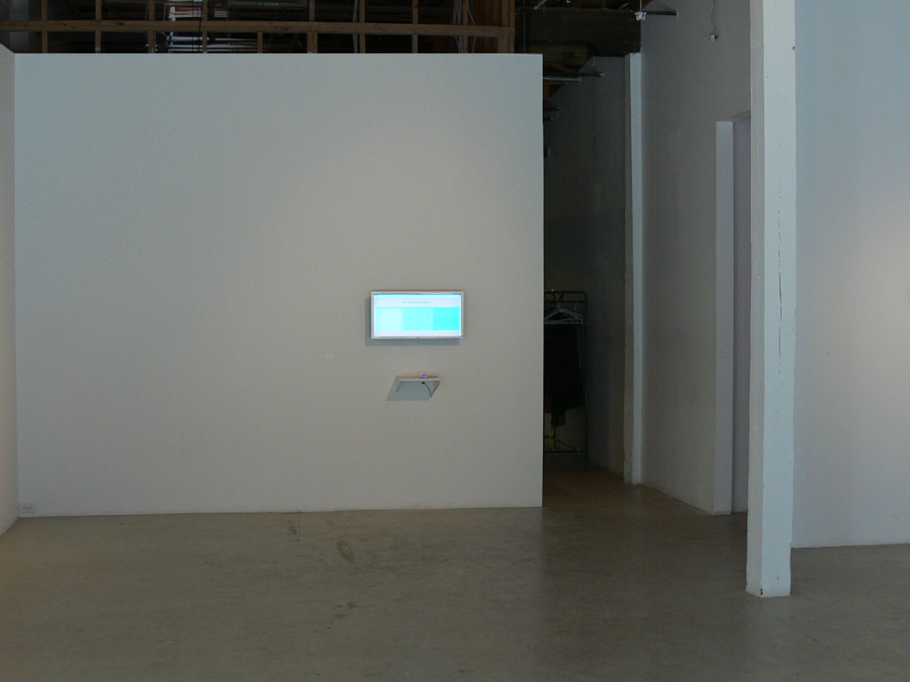 Claude Closky, 'Top 10', 2003, interactive web site, Php (http://www.sittes.net/top10). Exhibition view 'Infinity', Mercer Union, Toronto. 24 February - 1 April 2006. Curated by Dave Dyment