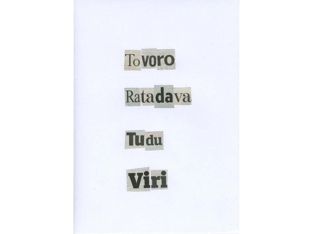 Claude Closky, 'Tovoro', 2010, collage on paper, diptyque, twice 30 x 21 cm.