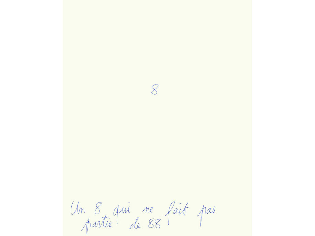 Claude Closky, 'Un 8 qui ne fait pas partie de 88 [an 8 that is not part of 88]', 1994, ballpoint pen on paper, 30 x 24 cm.