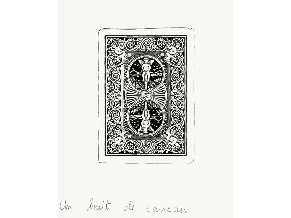 Claude Closky, 'Un huit de carreau [eight of diamond]', 1990, ballpoint pen on paper, 30 x 24 cm.