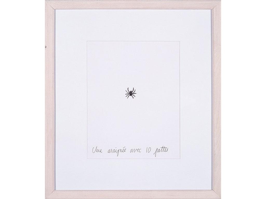 Claude Closky, 'Une araignée avec 10 pattes [a spider with 10 legs]', 1994, black ballpoint pen on paper, 30 x 24 cm.