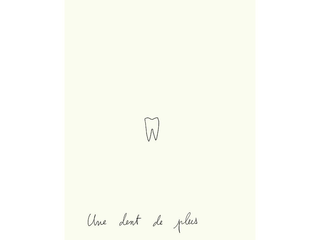 Claude Closky, 'Une dent de plus [One More Tooth],' 1996, black ballpoint pen on paper, 30 x 24 cm.