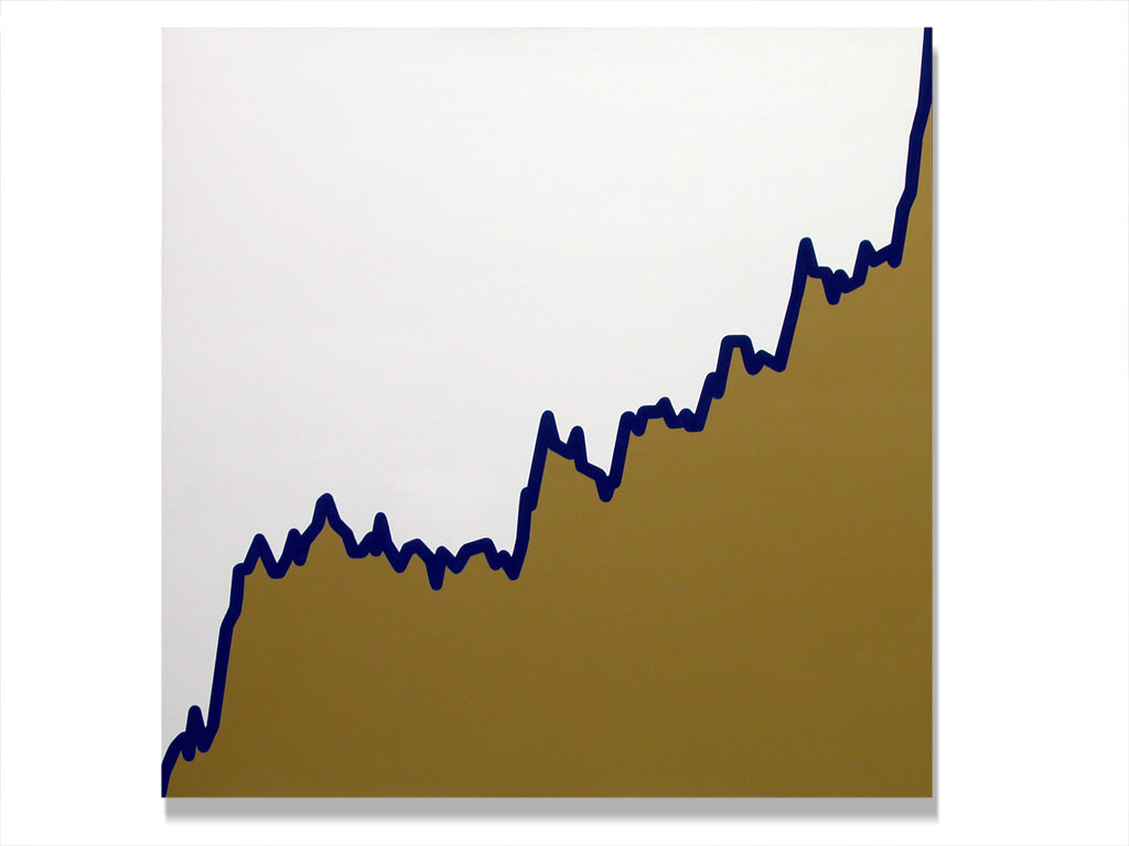 Claude Closky, 'Untitled (CPTA.MI-12-03-03-19-09-03)', 2003, acrylic on canvas, 180 x 180 cm.