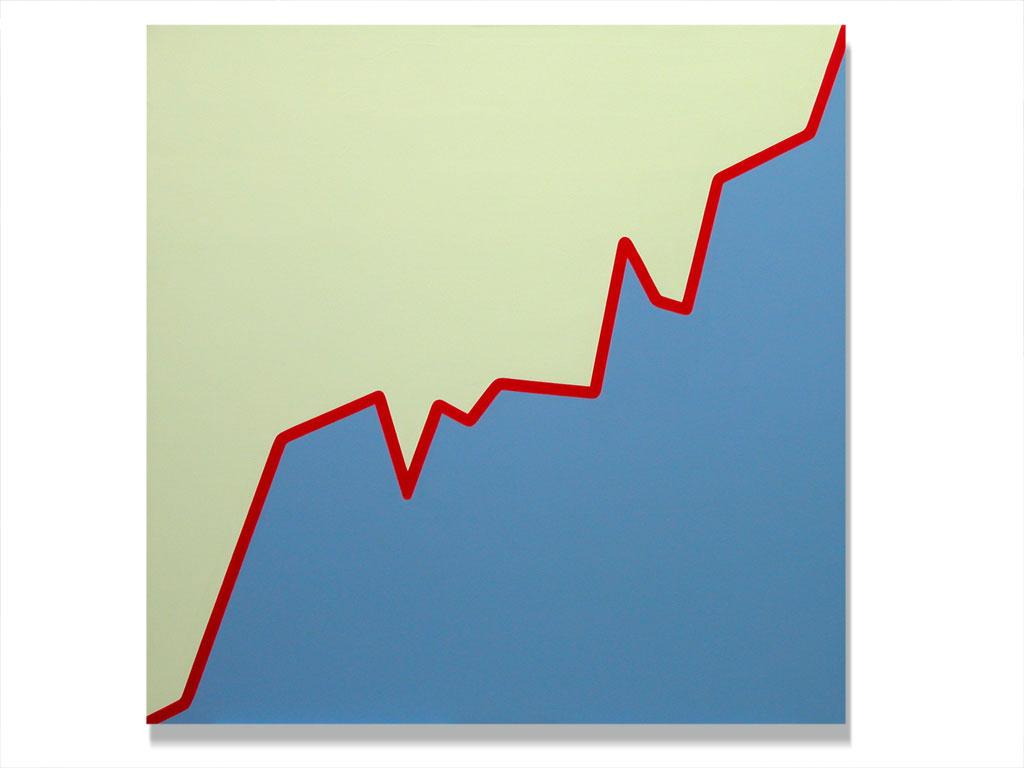 Claude Closky, 'Untitled (GASI.MI-26-01-03-18-02-03)', 2003, acrylic on canvas, 180 x 180 cm.