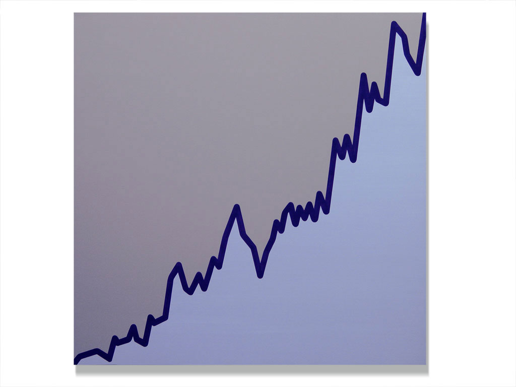 Claude Closky, 'Untitled (MS.MI-26-10-99-09-03-00) ', 2003, acrylic on canvas, 180 x 180 cm.