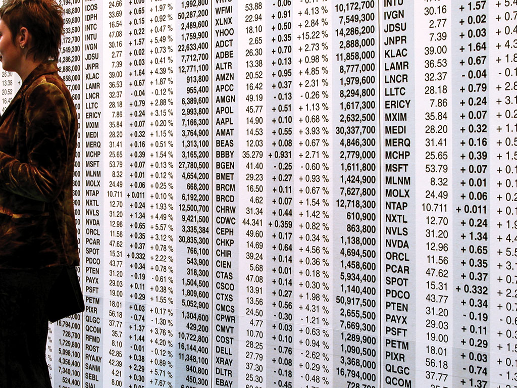 Claude Closky, Untitled (NASDAQ), 2003