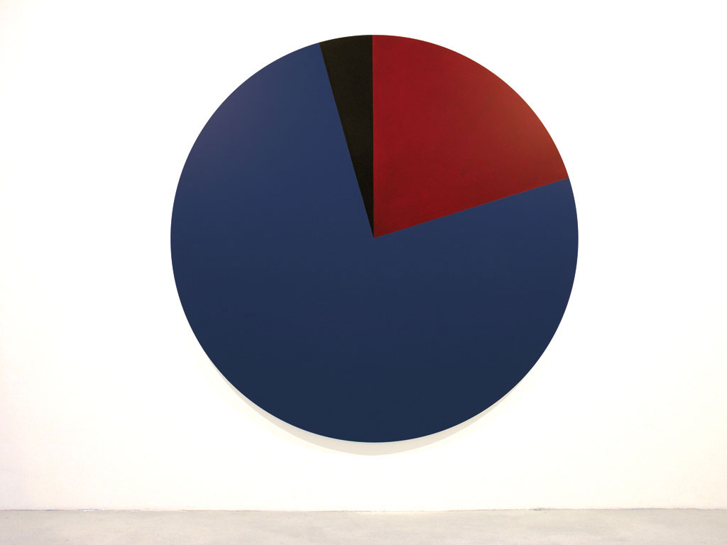 Claude Closky, 'Untitled (002757)', 2005, acrylic on canvas, ø 210 cm.