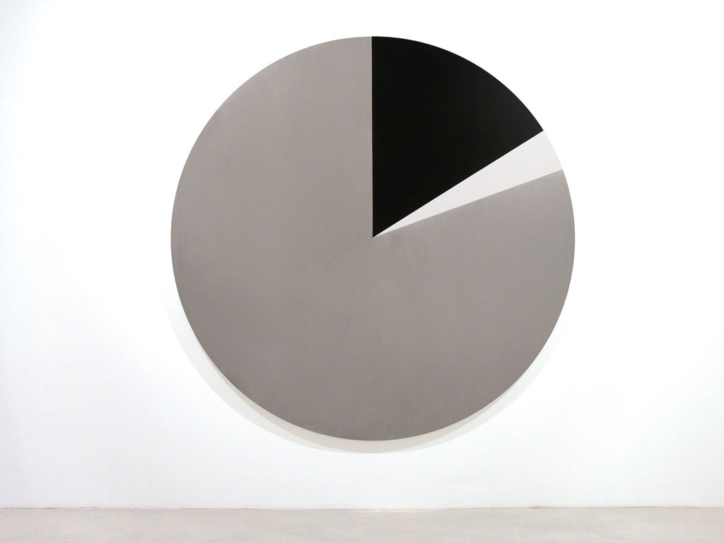 Claude Closky, 'Untitled (AEB0B2)', 2005, acrylic on canvas, ø 210 cm.