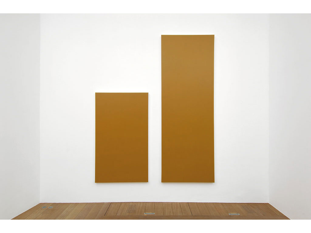 Claude Closky, 'Untitled (Brown 280)', 2006, acrylic on canvas, diptych, 280x225 cm (170x100 & 280x100).