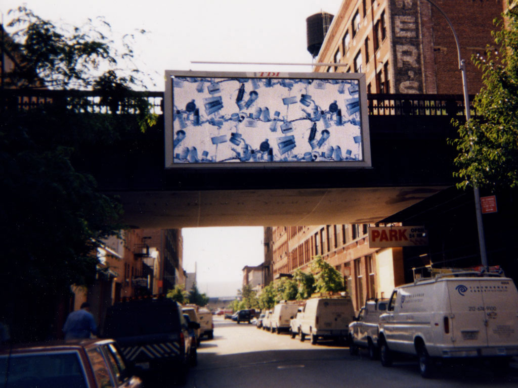 Claude Closky, 'Untitled (cosmetics)', 1998, poster commissioned by Dia Center for the Arts, New York, 300 x 600 cm. Installation view on 22nd Street and 11th avenue