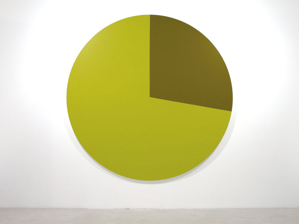 Claude Closky, 'Untitled (E5C123)', 2005, acrylic on canvas, ø 210 cm.