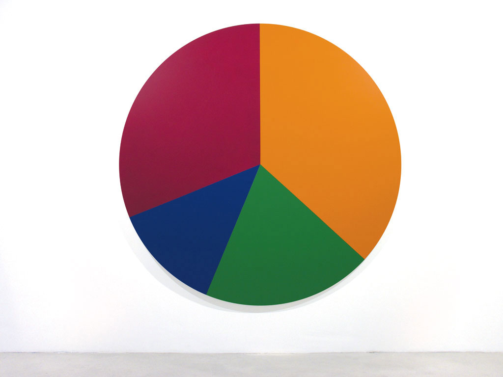 Claude Closky, 'Untitled (FBAE00)', 2005, acrylic on canvas, ø 210 cm.