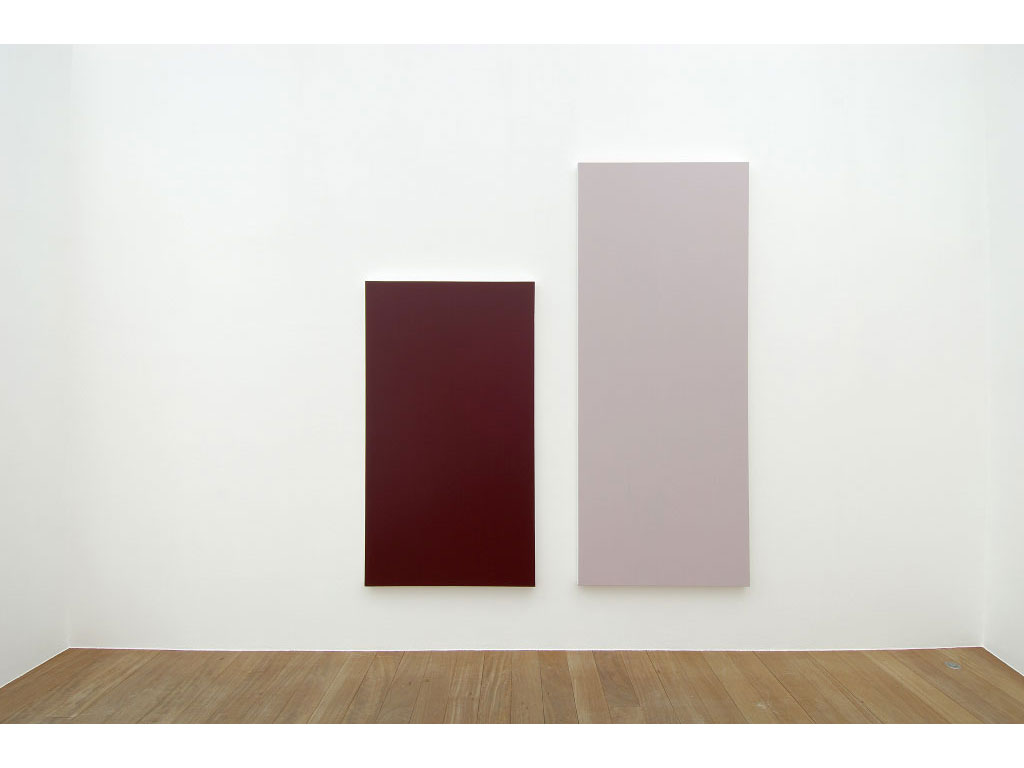 Claude Closky, 'Untitled (Pink 250)', 2006, acrylic on canvas, diptych, 250x225 cm (180x100 & 250x100).