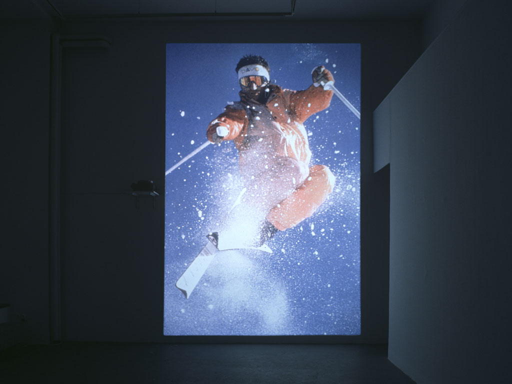Claude Closky, 'Untitled (Ski)', 2000, slide projection, 500 x 266 cm, loop (2 seconds per slide).