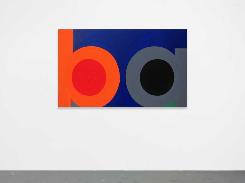 Claude Closky, 'Untitled (ba)', 2010, acrylic on canvas, 100 x 166 cm.