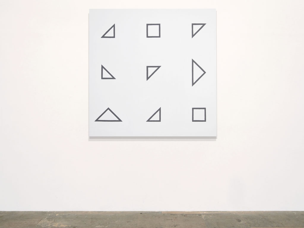 Claude Closky, 'Untitled (defective intelligence)', 2011, acrylic on canvas, 120 x 120 cm.