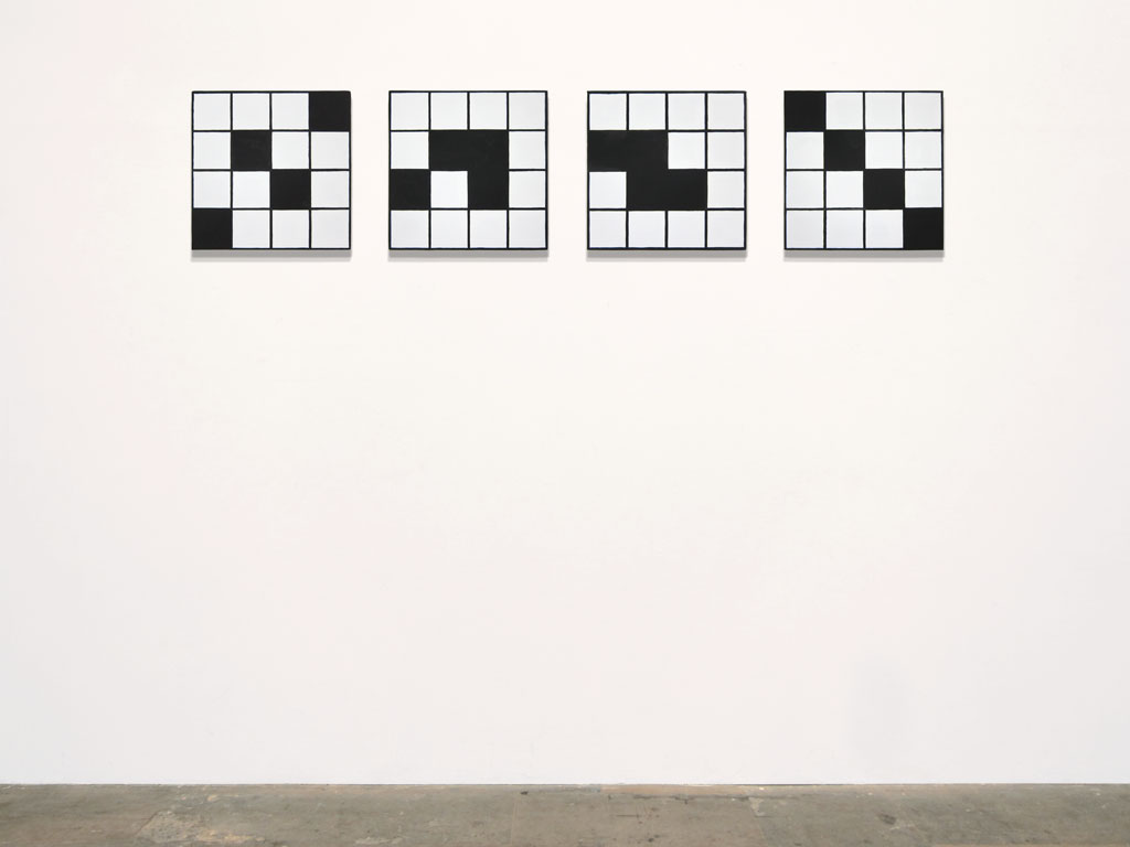 Claude Closky, 'Untitled (definite feeble-mindedness)', 2011, acrylic on canvas, 4 x 40 x 40 cm.
