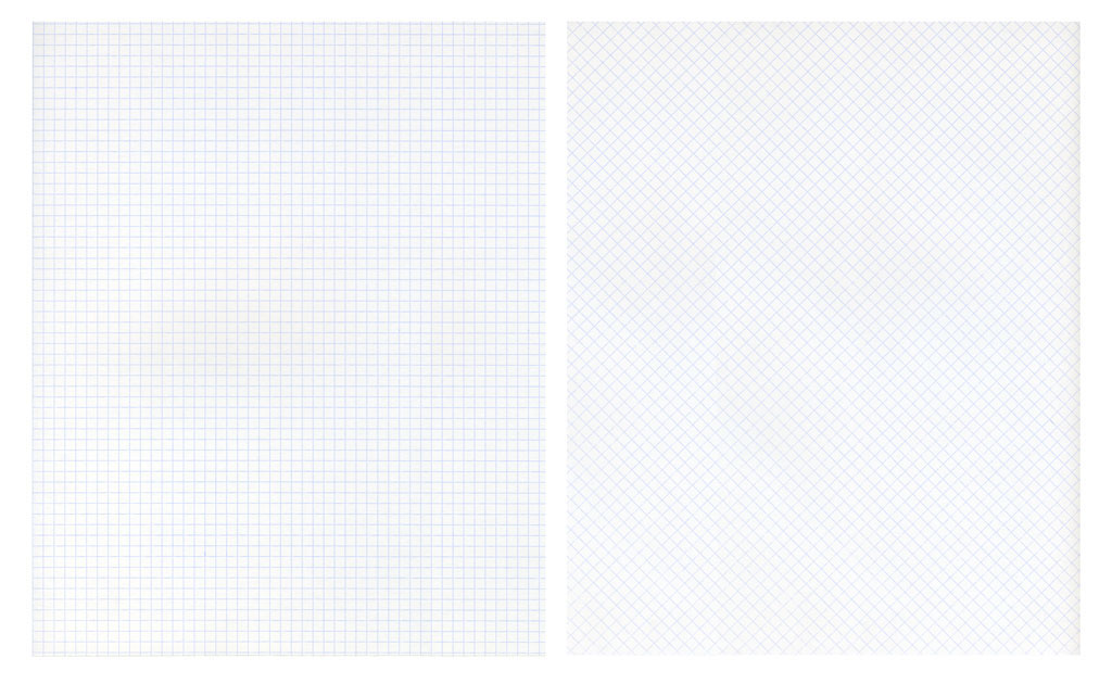 Claude Closky, 'Untitled (grid papers)', 1992, grid paper, diptych 2 x 30 x 24 cm.