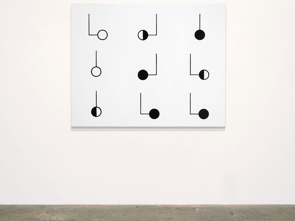 Claude Closky, 'Untitled (mild mental retardation)', 2011, acrylic on canvas, 120x 150 cm.