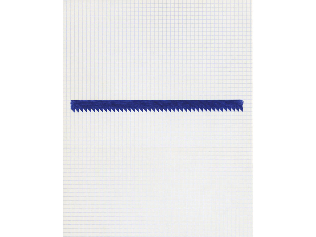 Claude Closky, 'Untitled (saw)', 1991, ballpoint pen on paper, 30 x 24 cm.