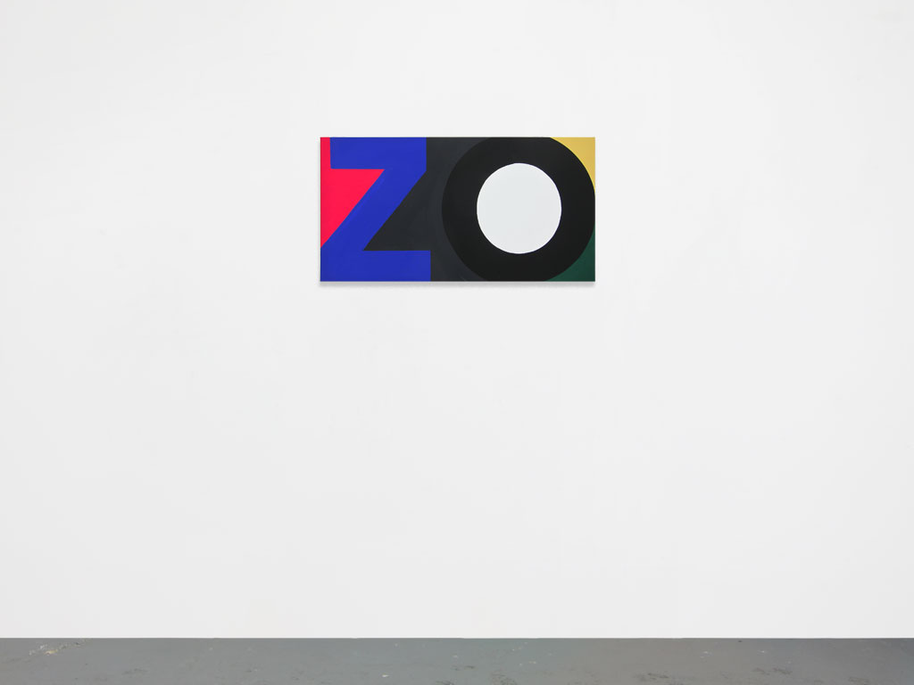 Claude Closky, 'Untitled (zo)', 2010, acrylic on canvas, 50 x 95 cm.