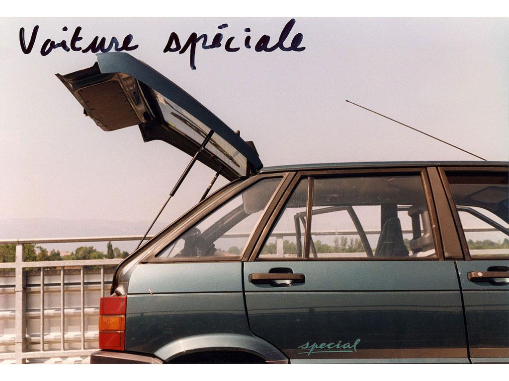 Claude Closky, 'Voiture spéciale [Special car]', 1995, c-print, permanent felt pen, 15,2 x 22,5 cm.
