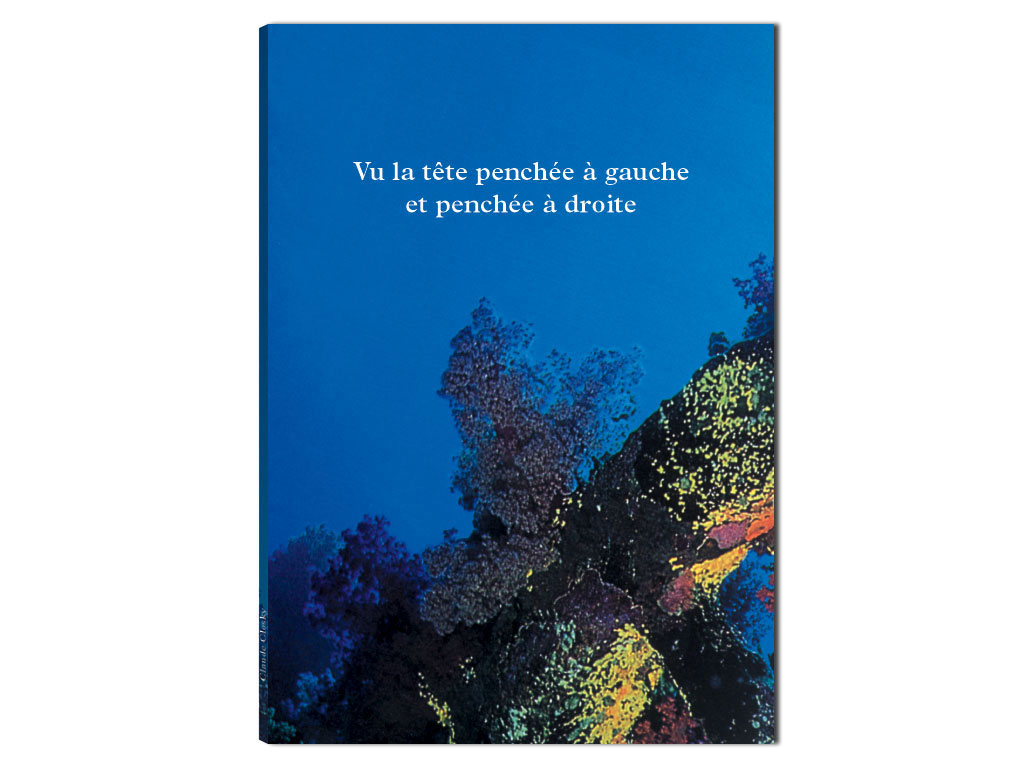 Claude Closky, 'Vu la tête penchée à gauche et penchée à droite [Seen with my head tilted left and tilted right]', 1997, Herzliya: Museum of Contemporary Art, 48 pages,  23,5 x 16,5 cm.