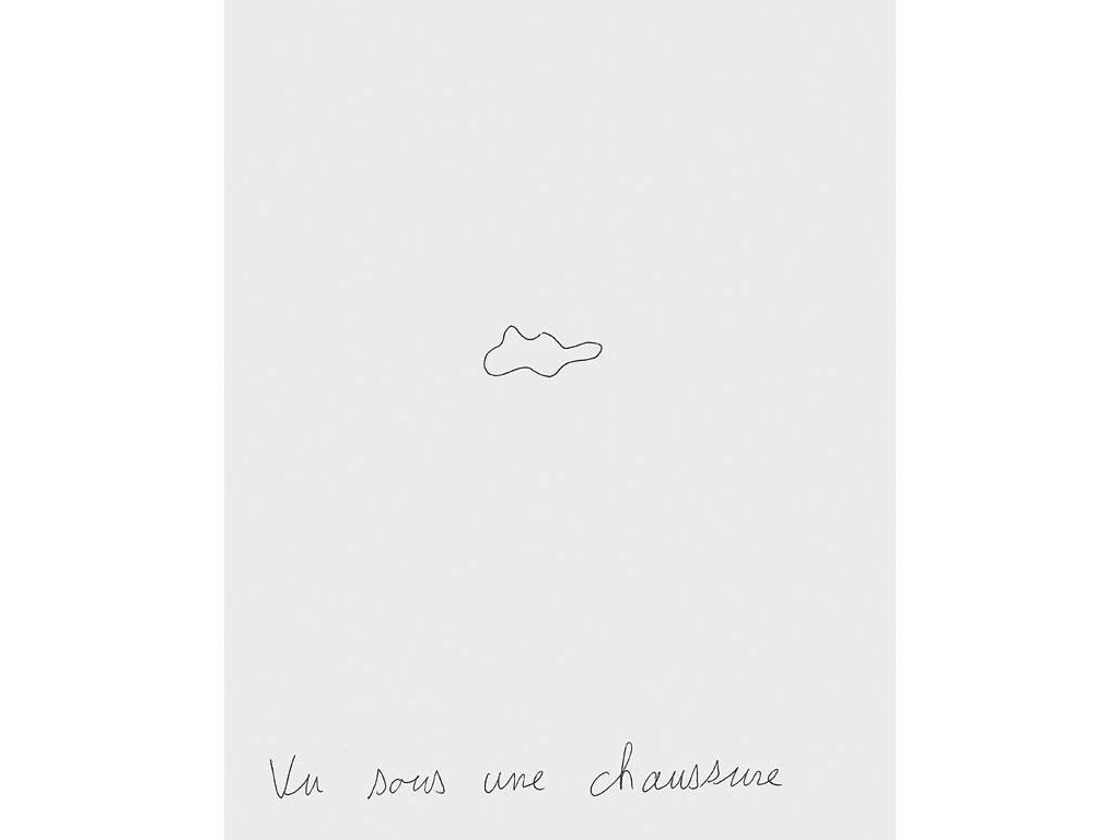 Claude Closky, 'Seen beneath a shoe', 1995, ballpoint pen on paper, 30 x 24 cm.