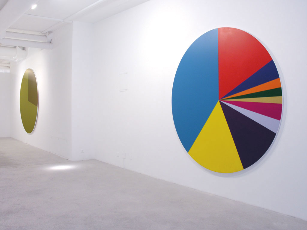 Exhibition view 'Roue de la fortune', Galerie Edward Mitterrand, Genève. 19 May - 30 June 200