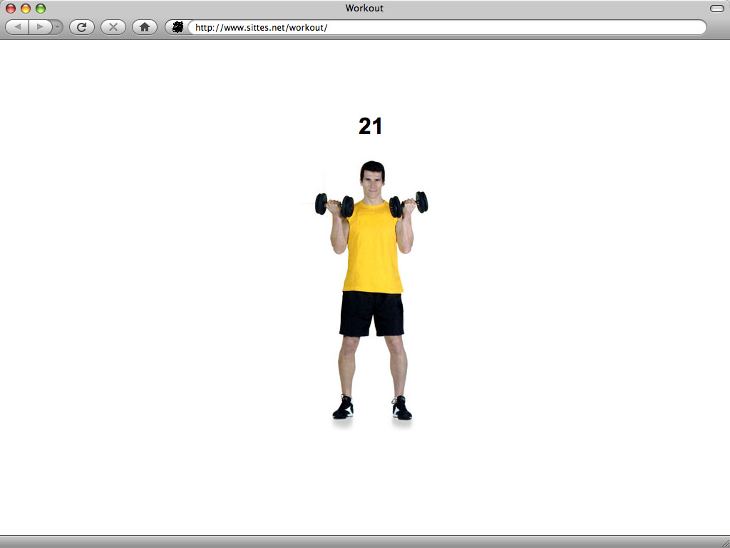 Claude Closky, 'Workout', 2004, web site, Javascript (http://www.sittes.net/workout), unlimited duration.