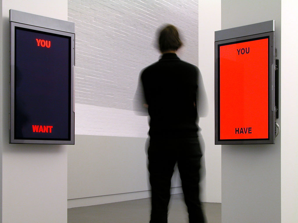 Claude Closky, 'You Want You Have,' 2004, two vertical 61