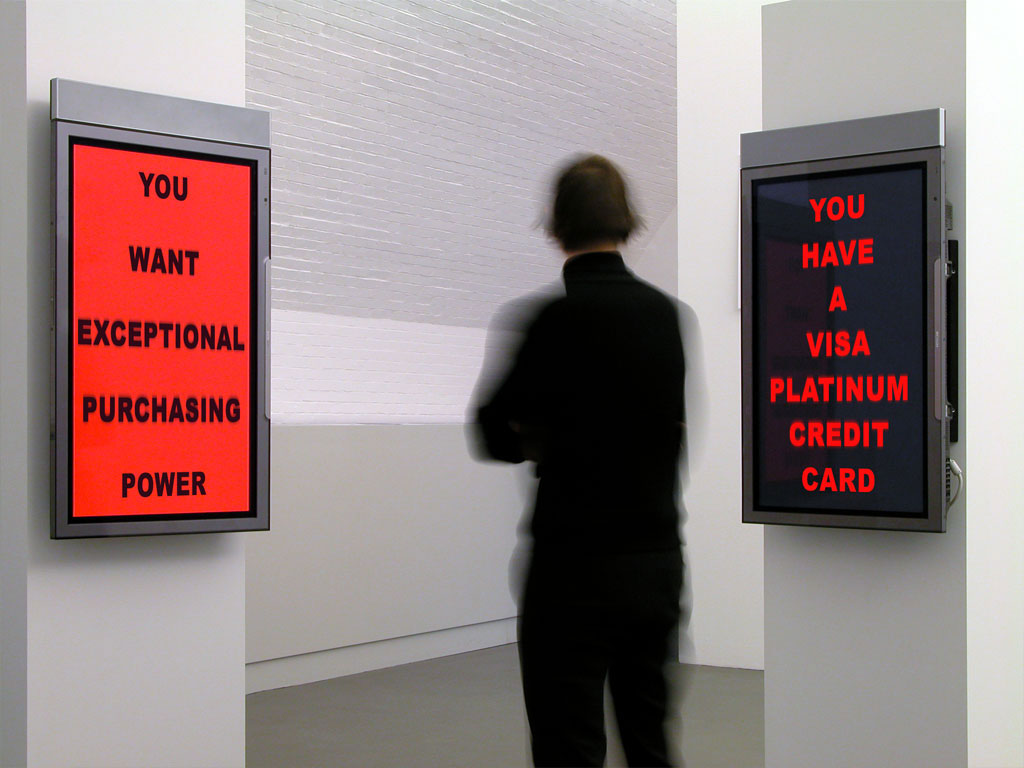 Claude Closky, 'You Want You Have', 2004, two vertical 61