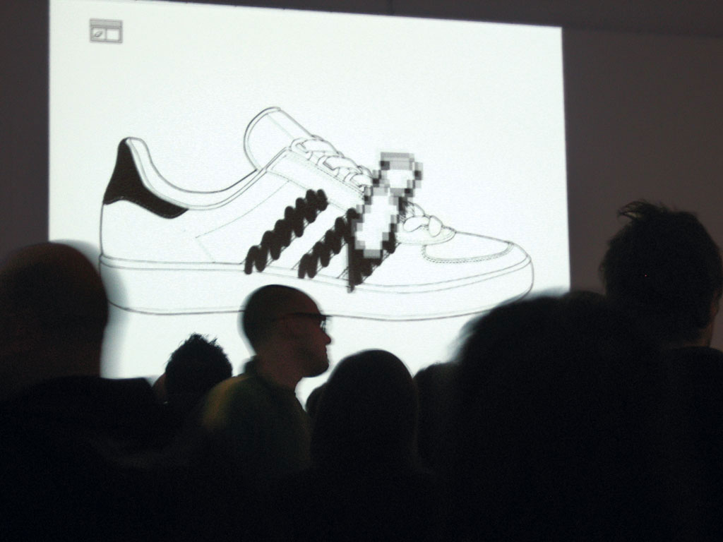 Claude Closky, 'My adidas', 2006, web flyer, Flash (http://claude.closky.online.fr/doc/adidas/flyer).