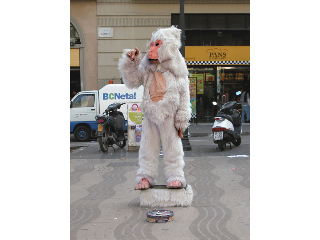 Claude Closky, 'Yeti', 2003, happening, April 10th, Barcelona.