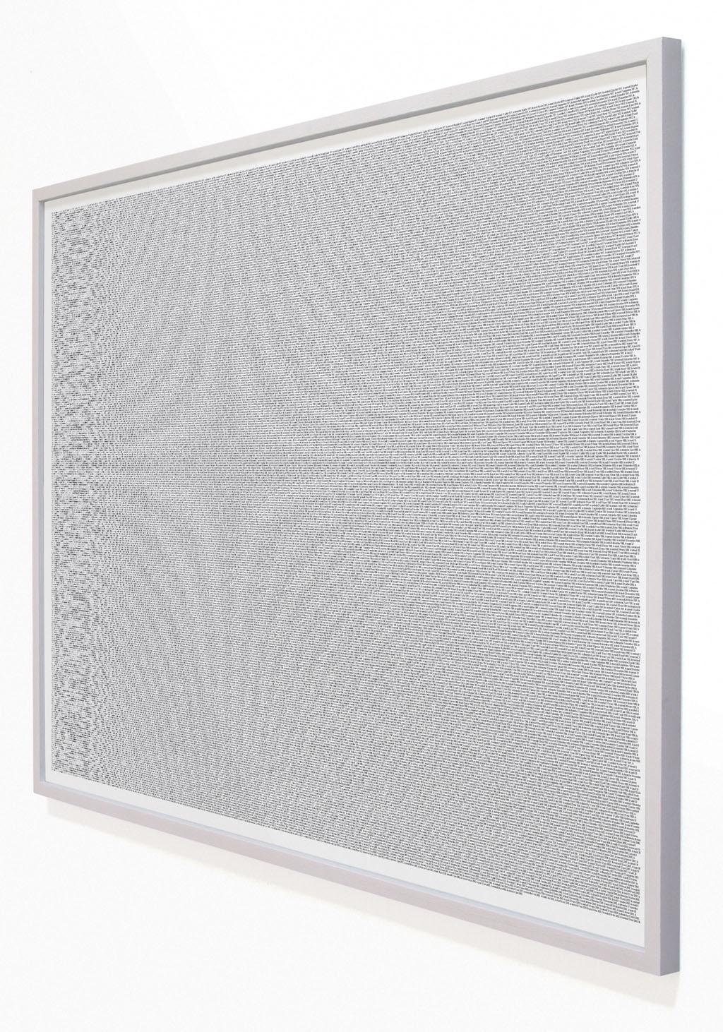 Claude Closky, 'Laurent Claquin, portrait au 21 juin 2003', 1991-2003, bromide print mounted on aluminum, 45 x 62 cm.