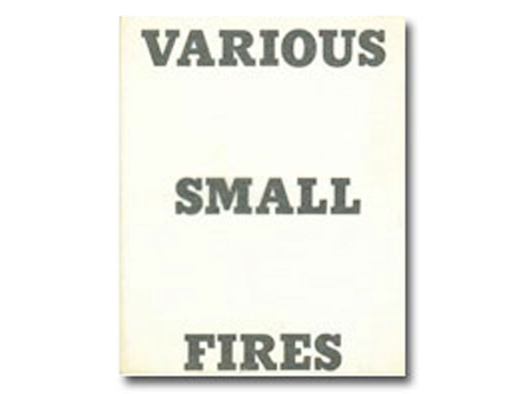 Ed Ruscha, Various Small Fires and Milk, 1964