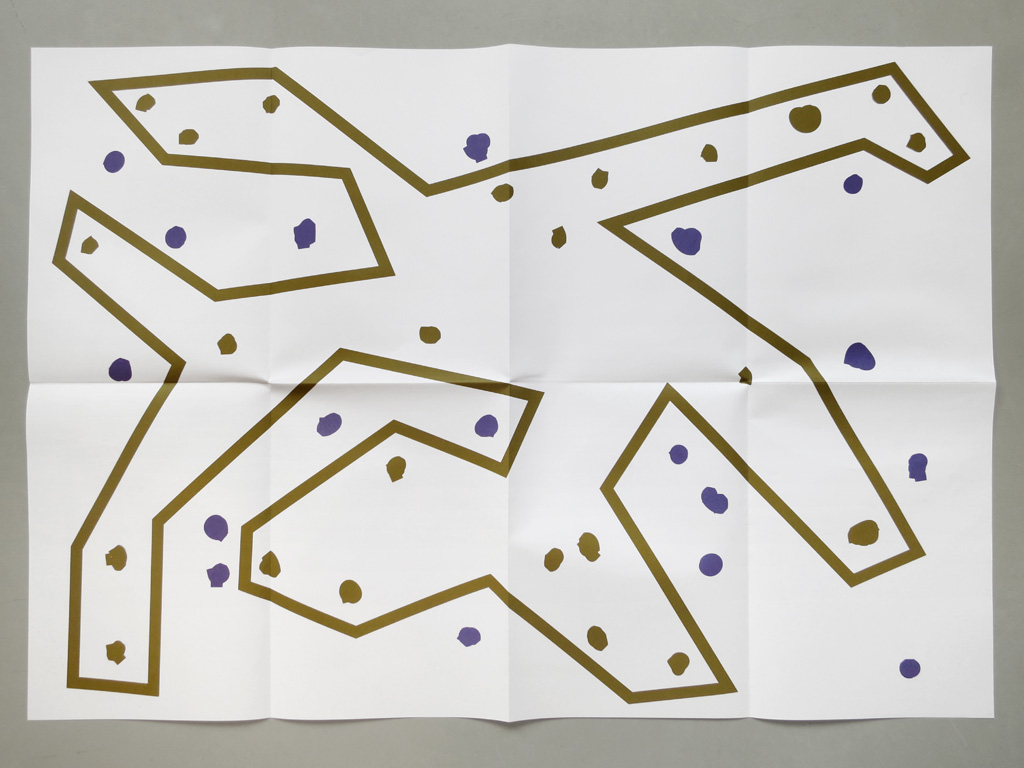 Claude Closky, '2 Constellations', 2013, Brussels: More Publishers. Double sied offset print on multi-offset 120 gr. printed in Ghent, 59,4 x 84,1 cm, folded to 29,7 x 21 cm.