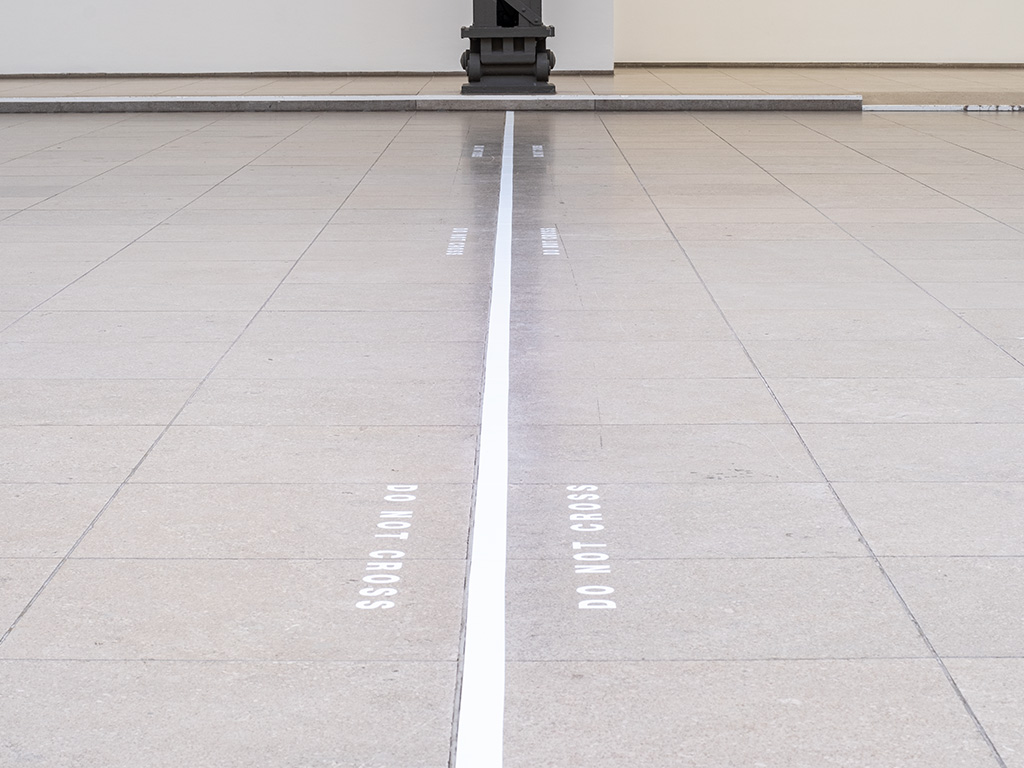 Claude Closky, 'Do not cross,' 2007, vinyl adhesive, dimensions variable.
