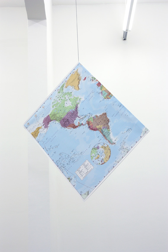 Claude Closky, 'Flat Earth,' 2009, collage, string, dimensions variable.