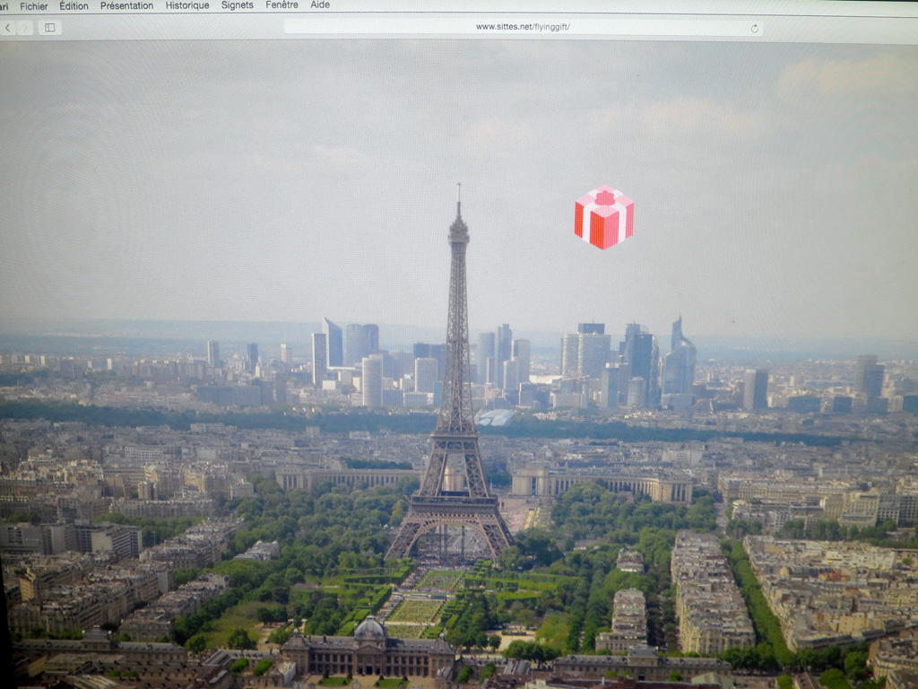 Claude Closky, 'Flying Gift Over Paris,' 2018, interactive web site, Javascript (http://www.sittes.net/flyinggift).
