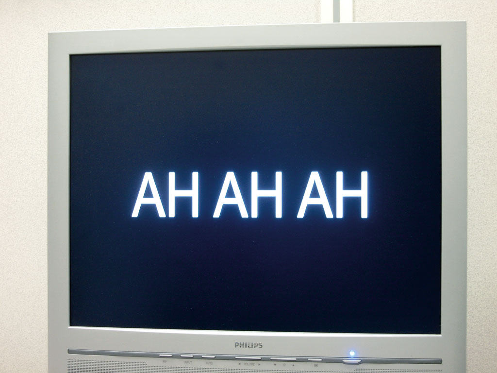 Claude Closky, 'Hhh,' 2004, flat screen, dvd, dvd player, loop.