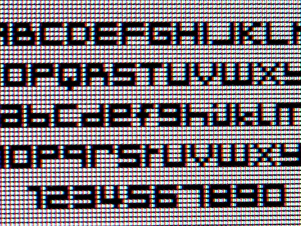 Claude Closky, 'Isola2000', 2000, Bitmap (Mac/PC) font, Regular, Condensed, Expert.