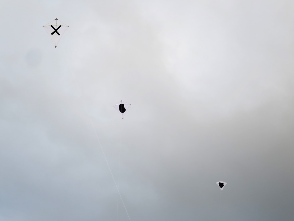 Claude Closky, 'Multiplication,' 2019, 5 kites, dimensions variable. Off Art-o-Rama curated by Le Collecteveee, Marseille